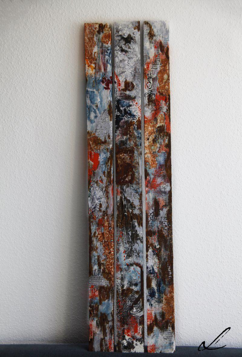 Triptychon auf Brettern