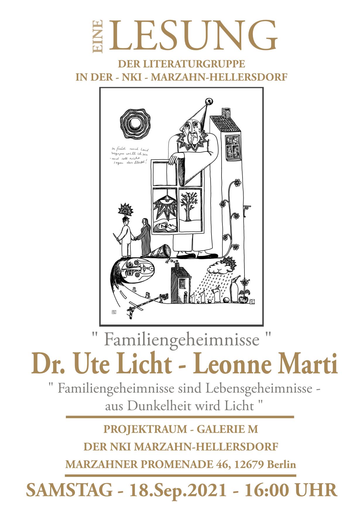 Lesung Ute Licht Leonne Martie